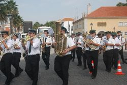 One of four marching bands we saw in Cascais