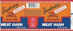 Cambridge Hash label
