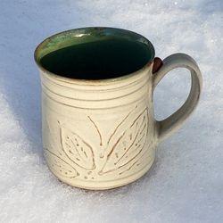 Embossed Leaves Mug