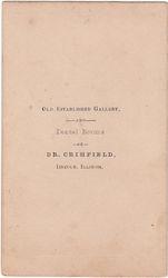 Dr. Crihfield, photographer, Lincoln, Illinois - back