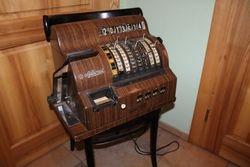 Antikvarinis kasos aparatas. Kaina 412 Eur.