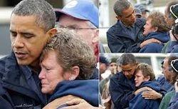President Obama Comforts Family