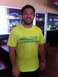 Clark Uemura After the LA Marathon