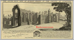 The Priory ruins. c1730.