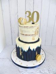 30th birthday buttercream cake
