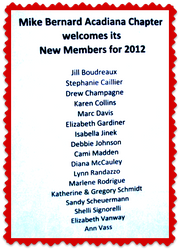 Welcome our chapter's NEW MEMBERS