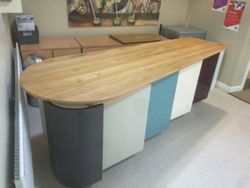 Bespoke kitchen unit for school.