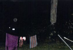 Clothesline in the evening.