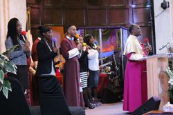 Bishop and the worship team