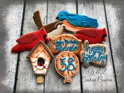 Birthday Cookies Birds Theme