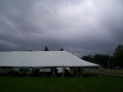 Rain clouds continue to threaten