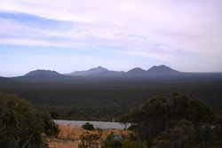 Overlooking the Stirling Ranges from Bluff Knoll Car Park