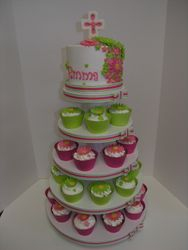 First Communion Cupcake Stand