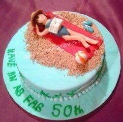 Sunbathing Birthday Cake