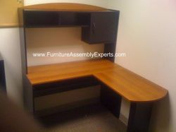 amazon L shaped desk installation service in springfield VA