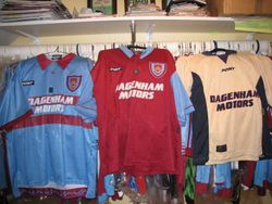1995/97 home and away shirts these were in celebration of our 100 year centenary celebrations Pony