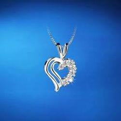 Double Heart Pendant Clear
