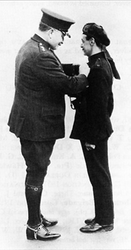Receiving the Constabulary Medal