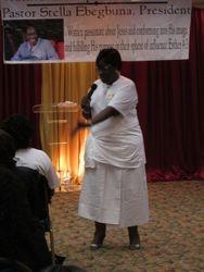 Our President: Rev Stella Ebegbuna