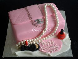 Pink Channel Purse Cake(SP048)