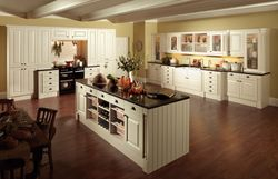 COLONIAL ROMANI OYSTER (PALE CREAM) PAINTED KITCHEN