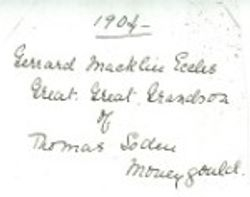 Signature of Edward Eccles