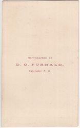 Furnald, D. O., photographer, Manchester, NH - back