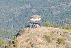 Goat Peak Lookout Tower...Up Close