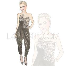 Gwen Stefani watercolor