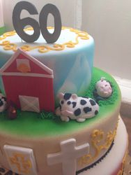 60th Birthday Cake Personalized