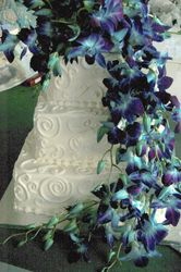 Blue Dendrobium Orchid Cake Flowers