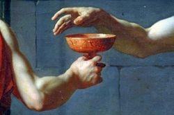 David, Death of Socrates, detail, Met