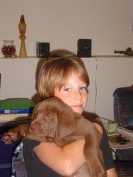 Jasper with his big boy, 2004