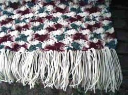 Country Rose Garden Afghan - View 1