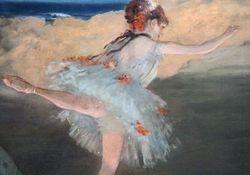 Degas, Dancer, detail, Norton Simon Musuem