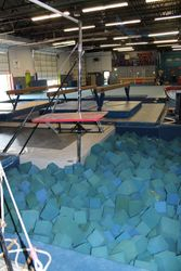 High Bar over Foam Pit