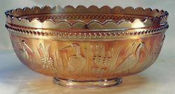 Stork and Rushes punch bowl, marigold