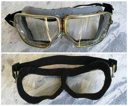 Nenaudoti tarybiniu laiku motociklisto akiniai. Kaina 28