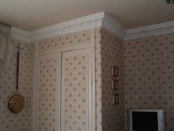 patterned wallpaper.