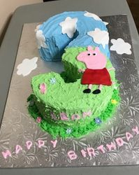 Number 3 cake with Peppa Pig