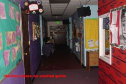 Hallway where there was an unexplainable garlic smell