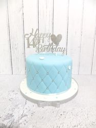 14th Birthday blue and silver Cake