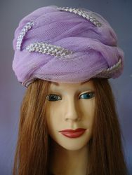 Vintage Lavender Pill Box Style with netting