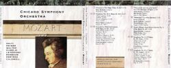 Chicago Symphony Orchestra - From The Archives, Vol.6: Mozart, 2-CD set. (1991)