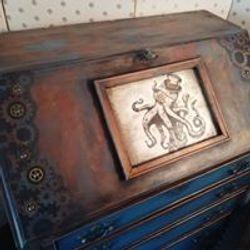 Steampunk octopus bureau