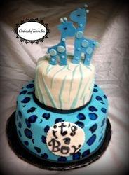 Blue Safari Cake