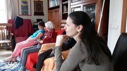 Moment de partage et d'écoute après la séance