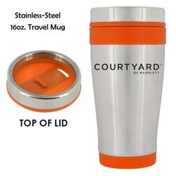 Stainless Steel Travel Mug, 16oz. | Insulated | No-Spill Lid | Keeps drinks hot or cold for hours | BPA Free & FDA Compliant | Dishwasher Safe