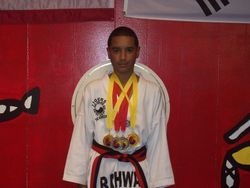 06-05-2011 Championship Felix Nodarse III  2 nd pl forms 1st pl breaking 1st pl weapons 2nd pl fighting