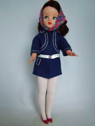 Winter Coat 1970 shown with Tights 1971